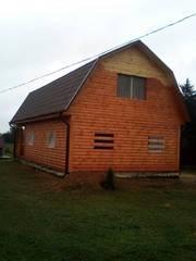 Сруб Дома из бруса Валерий установка/доставка